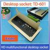 Линия Clamshell-Тип гнездо S-601 видеоего 2 USB 3.5 VGA офиса HDMI тональнозвуковые сетчатая Desktop гнезда мультимедиа многофункциональный выхода золотистое