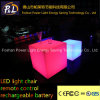 Chaise paresseuse carrée légère en plastique de meubles de LED