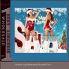 Sexy Naughty Santa Velvet Adult Sequin Christmas Clothes (80645)