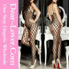 格子Hollow Female Bodystocking