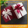 Rectángulo de regalo de encargo del papel de imprenta con el empaquetado de la cinta