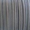 白く及び黒い編みこみの編まれた編みこみの円形ワイヤー