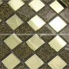 Mattonelle di mosaico dorate classiche di cristallo
