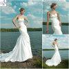 2012 vestidos de casamento nupciais da sereia branca bonita do cetim (WD053)