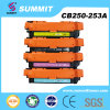 HP compatible CB250-253A del comerciante consumible del cartucho de toner del color del laser