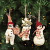 Boneco de neve poli de Resin em Ball Decoration, Xmas Hanging Ornament