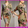 2015 новым платьев 2015 V-Шеи оптовой продажи фабрики связанных эластиком/платье партии (C-246)