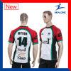 O corte do esporte de Healong e Sew a camisa Sublimated do rugby da impressão
