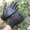 Guanto del lavoro di sicurezza della palma tuffato nitrile liscio della fodera del poliestere
