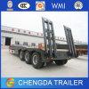 3 Aanhangwagen van de Vrachtwagen van het Bed van assen 60ton de Lage Semi voor Verkoop