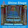 Unterhaltungs-Boden-Stufe, Stab-Stufe, Aluminiumacryl bauen Stufe zusammen