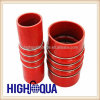 Wire en acier Silicone Coupling /Silicone Hose dans Orange Color