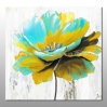 Handmade Big Colorful Flower Oil Painting