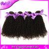 O cabelo humano Curly do Afro Mongolian não processado do cabelo 4PCS de 7A Aliexpress tece a cor 32 natural Kinky das extensões 8 da onda do Virgin apertado  -