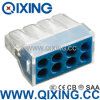 Ce 309 tipo conector rápido de Wago de 8 cuadrillas del alambre con color azul