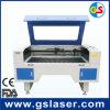 Gravura do laser e máquina de estaca GS1490 80W com a câmera do CCD para o pano