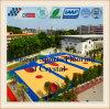 Migliore campo da pallacanestro di legno esterno del grano con la riga nell'ambito dello strato di superficie