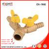 Válvula de gas de rosca macho de aleación de zinc en válvulas