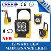 Lámparas de trabajo de la máquina, luz magnética 12W del trabajo del LED