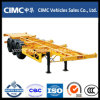 Cimc 20FT/40FT/53FT三Axle Skeleton Container Trailer