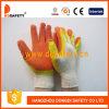 Luva de trabalho Dkl319 de Protecitve da segurança do látex do algodão