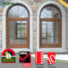 Arco Top Windows, UPVC Arched Window con Grill Design