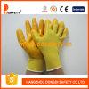 Желтый нейлон с желтым нитрилом Glove-Dnn346
