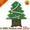 Movimentação feita sob encomenda do flash do USB da árvore de Natal (YT-PVC-Árvore)