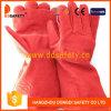 Guarnición completa partida Dlw635 de los guantes de soldadura de la vaca roja
