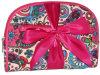 Travel bonito Cosmetic Bag Assortment de Canvas Women cor-de-rosa com Bow