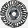 Escova da roda do fio de aço do nó torção do aço inoxidável 4-1/2 da