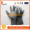 Черный нейлон с серым нитрилом Glove-Dnn410
