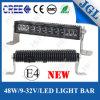 4X4 accesorios de la iluminación del vehículo LED, barra ligera 48W del LED