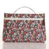 防水PVCキャンバス花パターンジッパーの女性袋(23150)