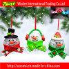 Das decorações claras do Natal do diodo emissor de luz do boneco de neve ornamento de suspensão do Xmas