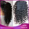Hotsale 1b# Deep CurlyインドのVirgin Human Hair Ponytail