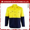 De Brand van Upf 50+ - Overhemden van het Werk van de vertrager de Fluorescente Gele Weerspiegelende