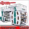 Doppia stampatrice flessografica del film di materia plastica della stampatrice di Flexo dell'argano/sei colori
