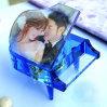 Piano de cristal com a foto personalizada para disposições do casamento