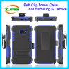 Hotselling Samsung S7の能動態のための背部ベルトクリップ耐震性の箱
