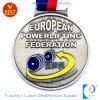 Medaille Powerlifting van de Vernis van het Baksel van het Plateren van het Metaal van de douane de Antieke Zilveren 3D met de Legering van het Zink