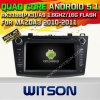 Carro DVD GPS do Android 5.1 de Witson para Mazda3 2010-2011 com sustentação do Internet DVR da ROM WiFi 3G do chipset 1080P 16g (A5793)