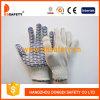 PVC normal d'onde d'eau bleue de gants de polyester de coton de Ddsafety 2017