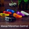 Band-multi Farben-Sprachschwingung-Steuerblinkendes Armband des Firmenzeichen-Geschenk-Musik-Festival-LED grelles