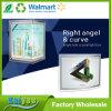 Einzelner seitlicher rechtwinkliger und Kurven-Kristalllampen-Kasten