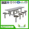 8人のための酒保のステンレス鋼のファースト・フードのダイニングテーブル