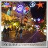 Da decoração decorativa transversal do Natal da rua do diodo emissor de luz luz ao ar livre do motivo