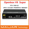 新しいSatellite Receiver Original Openbox V8 Super DVB-S2 HD Openbox V8s Same Function Support Cccam Powervu Bisskey等