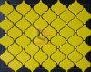 노란 색깔 꽃 모양 세라믹 제작된 모자이크 타일 (CST141)