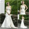 Vestidos de casamento nupciais do cetim da coluna/bainha (WD047)